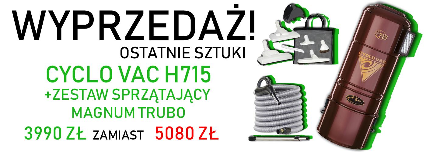 de53c1c21fa52c Wyprzedaż jednostki centralnej Cyclo Vac H715 + Zestaw Magnum Turbo ...
